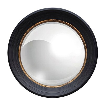 Convex Mirror With Wooden Frame (50 Cm)