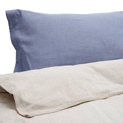 Esinti Blue 2 Pcs Oxford Pillow Case ( 51 X 94 + 4 Cm )