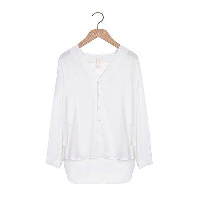 Yakasız Tunik Gömlek