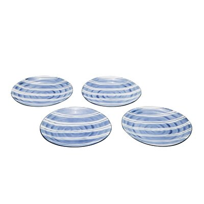 Handmade Porcelain Plate (  Set Of 4 - 26 Cm  )