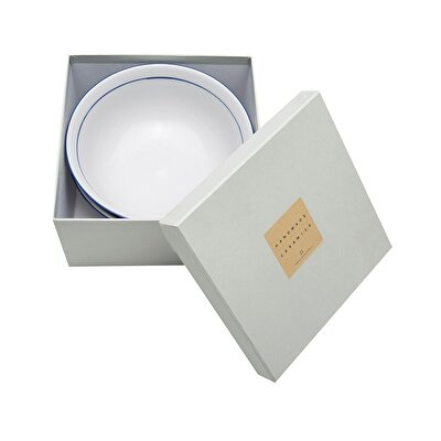 Handmade Porcelain Bowl ( Set Of 2 - 20 X 10 Cm  )