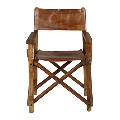 Leather Director Chair (  53 X 56 X 88 Cm  )