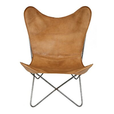 Leather Butterfly Chair (  75 X 87 X 86 Cm  )