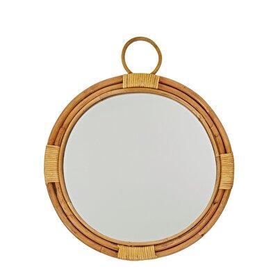 Resim Rattan Çerçeveli Ayna ( 40 Cm )