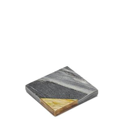 Marmorierter Holz-Untersetzer