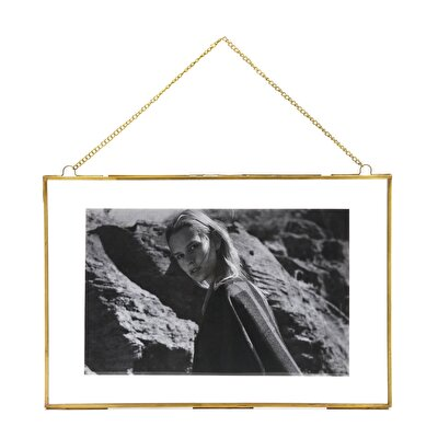 Brass Plated Wall Frame ( 45 X 30 Cm )