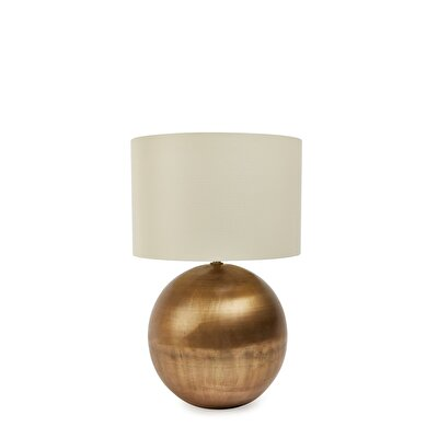 Brass Plated Lampshade ( Body 23 Cm, Shade 30 X 20 Cm )