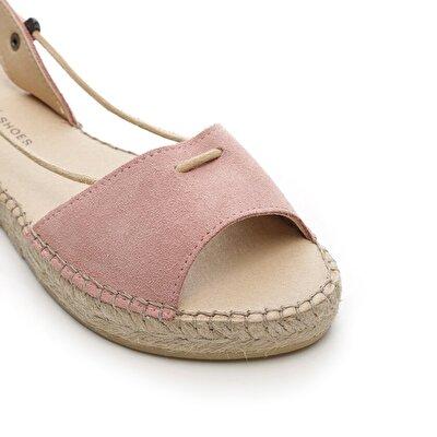 Resim İp Detaylı Deri Sandalet