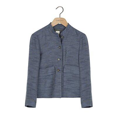 Pli Detaylı Ceket
