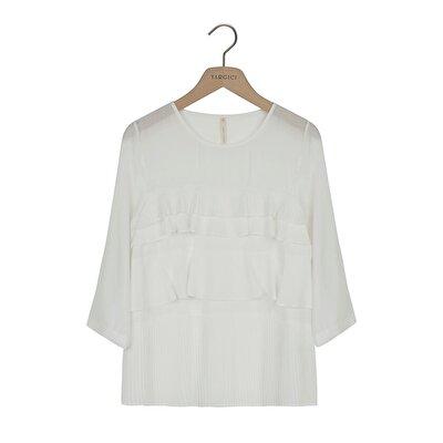 Resim Pilise Detaylı Bluz