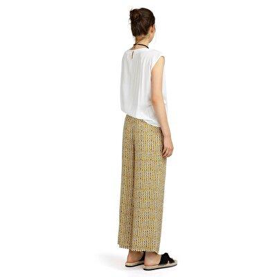 Resim Pili Detaylı Bol Kesim Pantolon