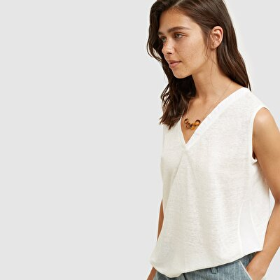 Picture of Sleeveless V Neck T-Shirt