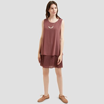 Picture of Double Layered Pleated Dress