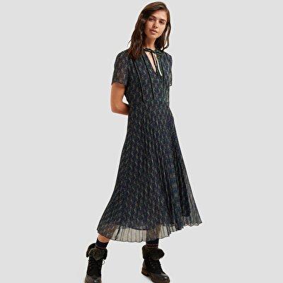 Velvet Detail Dress