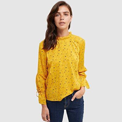 Resim Fırfır Detaylı Bluz