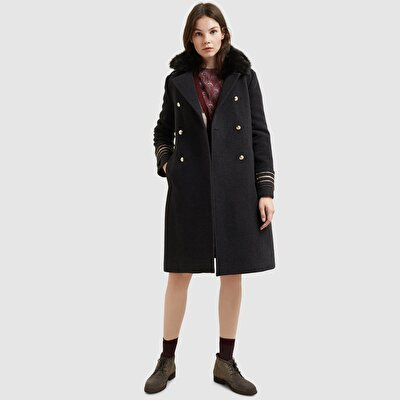 Slit Detailed Coat