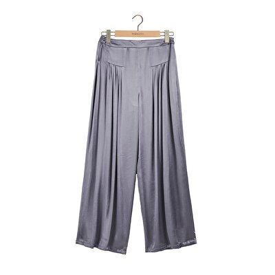 Picture of Shirring Detailed Wide Leg Trouser