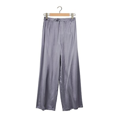 Resim Büzgü Detaylı Geniş Paça Pantolon