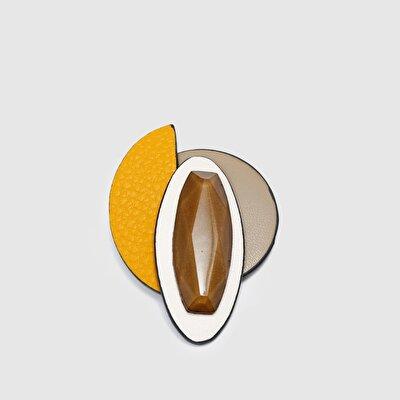 Resim Geometrik Taşlı Broş