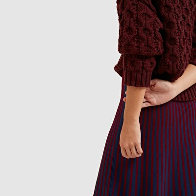 Picture of Contrast Ribbed Tricot Skirt