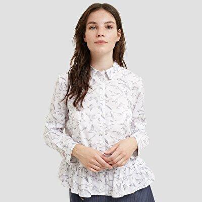 Resim Fırfır Detaylı Gömlek