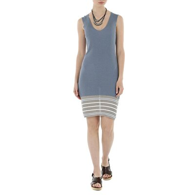 Picture of V Neck Lap Dress Tricot