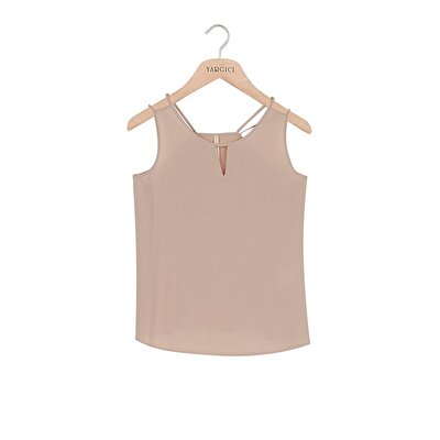 sleeveless Strap Detailed Blouse