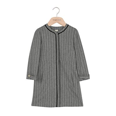 Picture of crew Neck Piping Detailed Coat