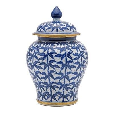 Resim El Yapımı Porselen Vazo ( 14 X 23 Cm )