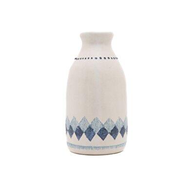 Resim El Yapımı Seramik Vazo ( 9 X 9 X 17 Cm )