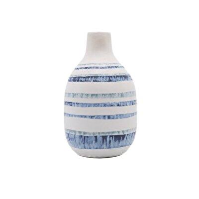 Resim El Yapımı Seramik Vazo ( 12 X 12 X 19 Cm )