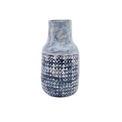 Resim El Yapımı Seramik Vazo ( 12 X 12 X 23 Cm )