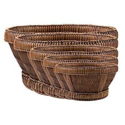 Picture of Handmade Rattan Basket 5-Set ( 50 X 45 X 40 X 35 X 32 Cm )