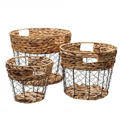 Picture of Set Of 3 Rattan Baskets ( 39 X 32 Cm ) ( 32 X 27 Cm ) ( 25 X 22 Cm )