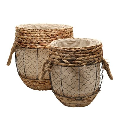 Picture of Set Of 2 Rattan Baskets ( 40 X 46 Cm ) ( 31 X 40 Cm )