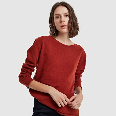 Picture of Contrast Detailed Long Sleeve Knitwear
