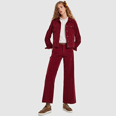 Picture of Flared Hem Corduroy Pants