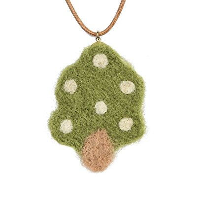 Fabric Pendant Necklace