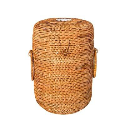 Handmade Ceramic Detailed Rattan Basket ( 24 X 35 Cm )