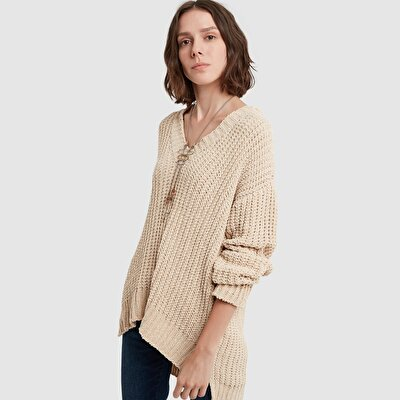 Picture of V Collar Long Sleeve Tricot