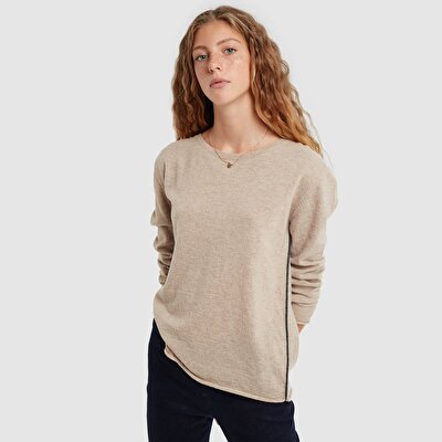 Contrast Detailed Long Sleeve Knitwear
