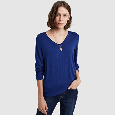 Picture of V Neck Long Sleeve T-Shirt