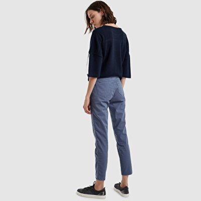Picture of Belted Back Denim Pants
