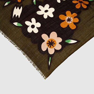 Resim Çiçek Desenli Şal