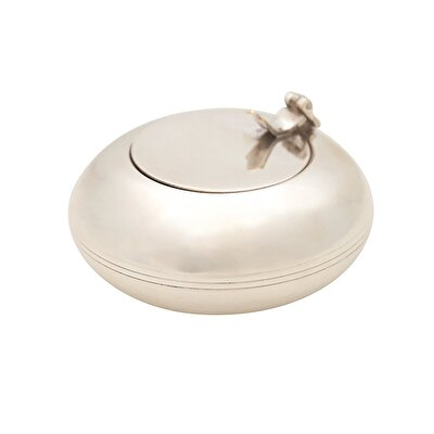SilveR-Plated Ashtray (  9 X 3 Cm  )