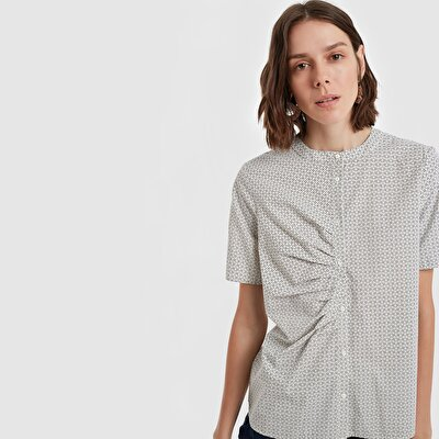 Resim Kırma Detaylı Gömlek