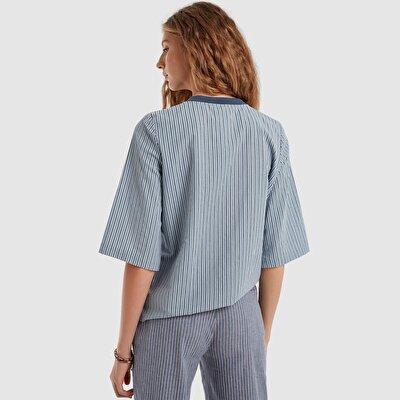 Resim Fermuarlı Bluz