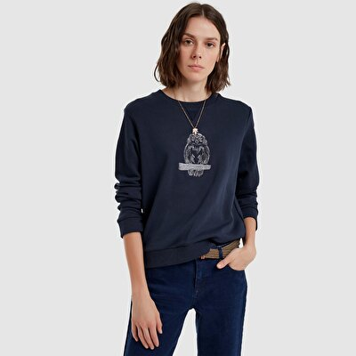 Sweatshirt With Front Embroidery Detail