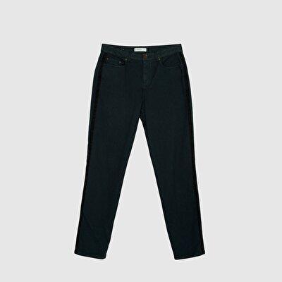 Resim Yanları Şerit Detaylı 5 Cep Pantolon