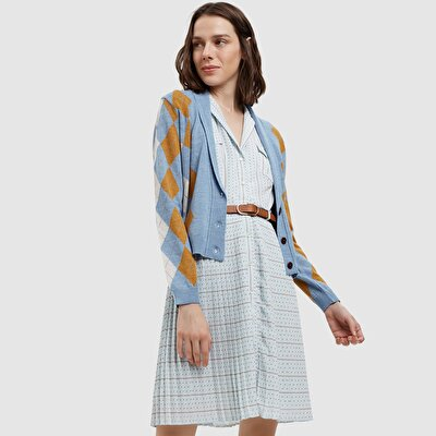 Picture of Regular Fitted Diamond Pattern Cardigan